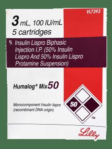 Humalog 100 Mix50 Cartridge