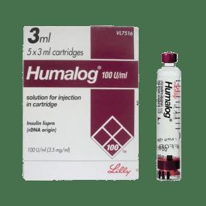Humalog 100 Cart