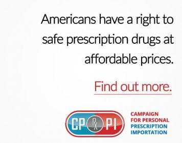 campaign for personal prescription importation
